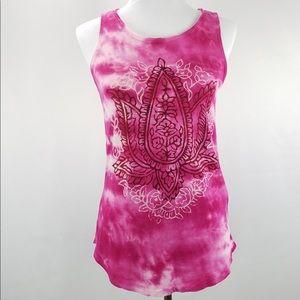 Lucky Brand Pink Lotus Tie Dye Tank Top Size XS
